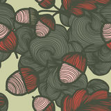 Vector seamless autumn pattern. Repeating abstract background Royalty Free Illustration