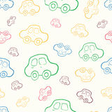 Vector seamless baby boy pattern background. Boyish wallpaper. Vector seamless baby boy pattern background. Background. Boyish wallpaper.Pattern with hand drawn Stock Image