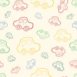 Vector seamless baby boy pattern background. Boyish wallpaper. Vector seamless baby boy pattern background. Background. Boyish wallpaper.Pattern with hand drawn Royalty Free Stock Photo
