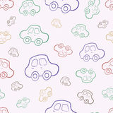 Vector seamless baby boy pattern background. Boyish wallpaper. Vector seamless baby boy pattern background. Background. Boyish wallpaper.Pattern with hand drawn Royalty Free Stock Images
