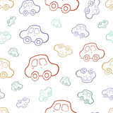 Vector seamless baby boy pattern background. Boyish wallpaper. Vector seamless baby boy pattern background. Background. Boyish wallpaper.Pattern with hand drawn Stock Photos