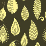 Vector seamless background. Vector seamless background with ornamental leaf Royalty Free Stock Image