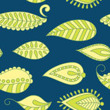 Vector seamless background. Vector seamless background with ornamental leaf Stock Photos