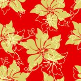 Vector seamless background. With floral pattern Royalty Free Illustration