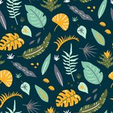 Tropical heaven pattern Royalty Free Stock Image