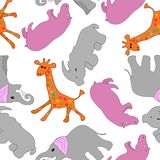 Vector seamless background with animals Stock Image