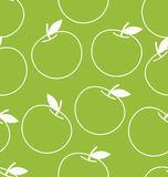 Vector seamless background with apples royalty free illustration