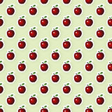Vector Seamless Background with Apples Royalty Free Stock Image