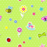 Vector seamless background with baby elements Stock Images