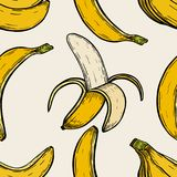 Background with bananas Stock Images