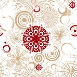 Vector seamless background with beige circles Stock Photography