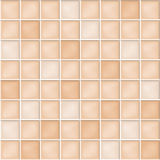 Vector seamless background with beige mosaic tiles. Seamless background with beige mosaic tiles royalty free illustration