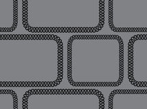 Vector seamless background. black pattern on gray background Stock Photography