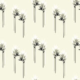 Vector seamless background with branches Royalty Free Stock Photo