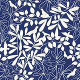 Vector seamless background with branches and birds. Pattern for design Royalty Free Stock Photo