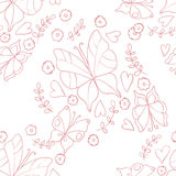 Pattern with butterfly Royalty Free Stock Images
