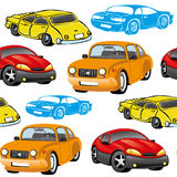Vector seamless background. Cars. Stock Image