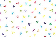 Seamless Background - Childish color Triangle Curl for background, backdrop, Cover, wrapping paper or other. Vector Seamless Background - Childish color Triangle Royalty Free Stock Photo