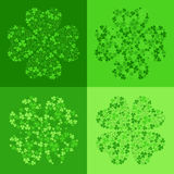 vector seamless background with clover Royalty Free Stock Photos