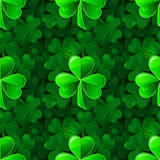 Vector seamless background with clover shamrock Stock Photography