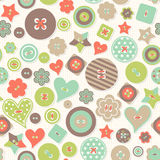 Vector seamless background of colored buttons different form. Royalty Free Stock Photo