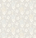 Vector seamless background with decorative flowers Royalty Free Stock Photography