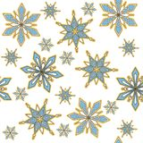 Vector seamless background. Decorative winter snowflake royalty free illustration