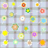 Vector seamless background with a delicate flowers.  vector illustration