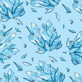 Vector seamless background of diamonds Stock Photos