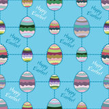 Vector seamless background with Easter eggs. Royalty Free Stock Photography