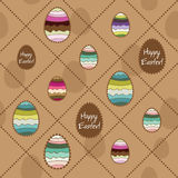 Vector seamless background with Easter eggs. Royalty Free Stock Photos