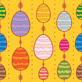 Vector seamless background with Easter eggs. Stock Photos