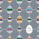 Vector seamless background with Easter eggs. Stock Images