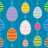 Vector seamless background with Easter eggs. Royalty Free Stock Photo