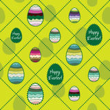 Vector seamless background with Easter eggs. Stock Image