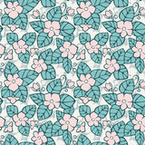Vector seamless background. Floral pattern with decorative flowers Royalty Free Stock Photos