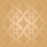Vector seamless background flowers, floral gold Stock Image