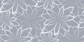 Vector seamless background. Flowers on a light blue background Royalty Free Stock Images