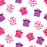 Vector seamless background with gift boxes Royalty Free Stock Photography