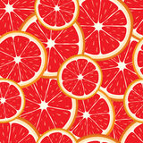 Vector seamless background of grapefruit slices. Royalty Free Stock Photos