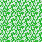Vector seamless background with green leaves Royalty Free Stock Photography