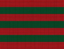 Vector seamless  knitted background with green and red stripes. Vector seamless background with green and red stripes Royalty Free Stock Image