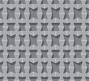 Vector seamless background. Grey volumetric grid Stock Photos
