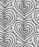 Vector seamless background hand drawn hearts. Vector abstract seamless background of black hand drawn hearts Stock Photos