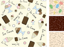 Vector seamless background with ice cream Royalty Free Stock Photos