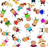 Vector seamless background with kids Royalty Free Stock Photography