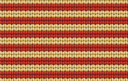 Vector seamless background. Knitted fabric with white and red st Royalty Free Stock Photo