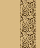 Vector seamless background. Lace flowers and leaves on a light b Royalty Free Stock Images