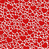 Vector seamless background made of small hearts. Seamless background made of small hearts Royalty Free Stock Photography