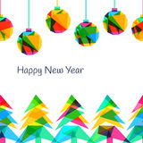 Vector seamless background, New Year 2015.  Stock Images